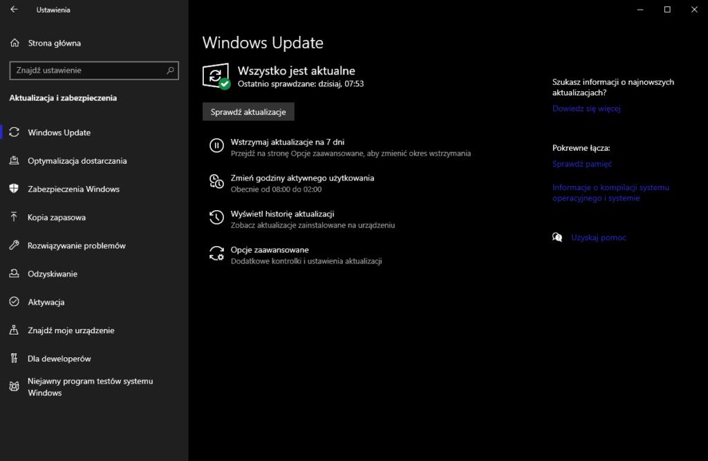 Co zrobić po instalacji Windowsa - aktualizacja