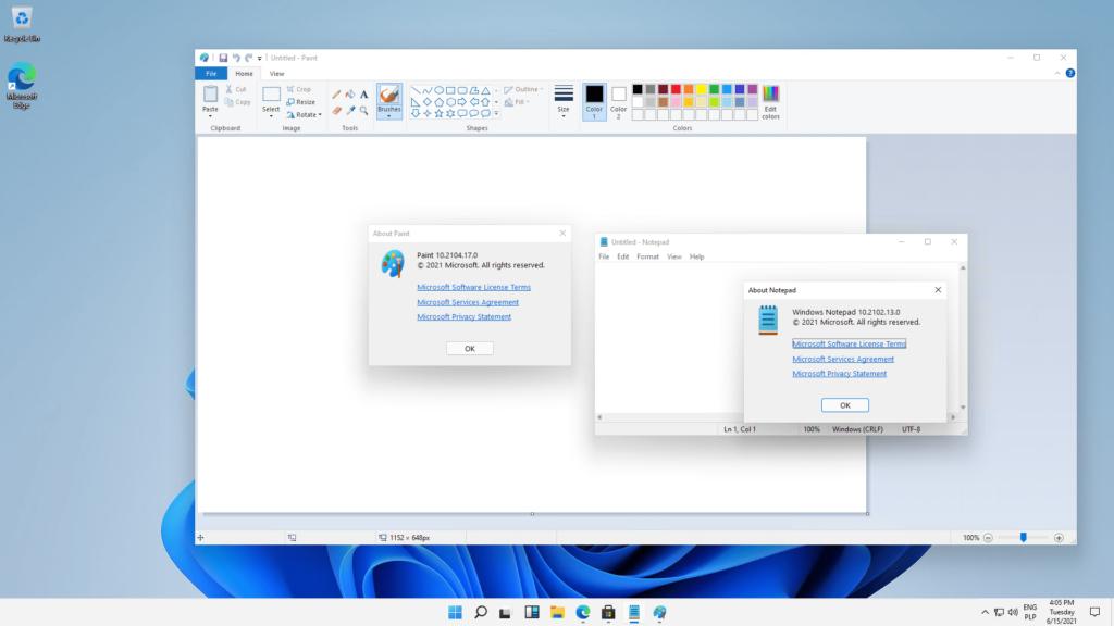 Przeciek Windows 10 - Paint i Notatnik